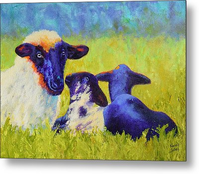 Mom And The Kids Metal Print by Nancy Jolley