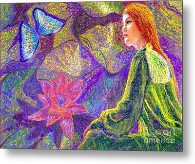 Meditation, Moment Of Oneness Metal Print by Jane Small