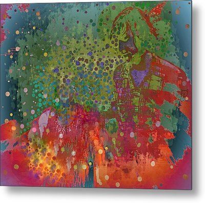 Metal Print featuring the mixed media Moment by YoMamaBird Rhonda