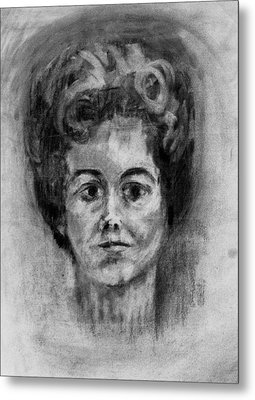 Mom's Self Portrait Metal Print