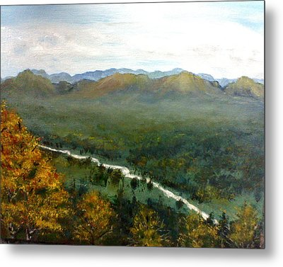 Metal Print featuring the painting Mom's Valley by J L Zarek