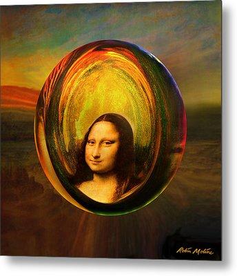 Mona Lisa Circondata Metal Print by Robin Moline