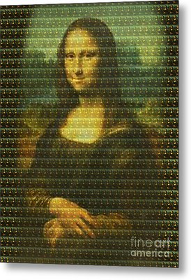 Mona Mosaic Metal Print