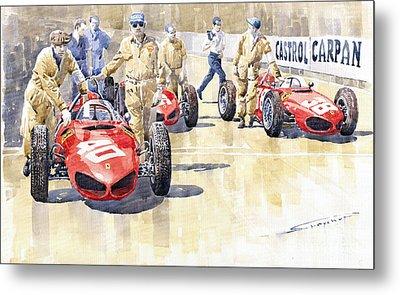 Monaco Gp 1961 Ferrari 156 Sharknose  Metal Print by Yuriy  Shevchuk