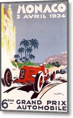 Monaco Grand Prix 1934 Metal Print by Georgia Fowler