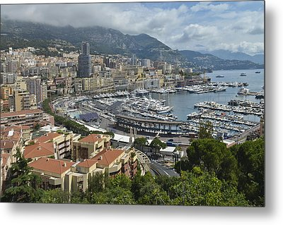 Metal Print featuring the photograph Monaco Harbor by Allen Sheffield