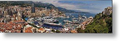 Monaco Panorama Metal Print by David Smith