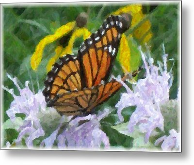 Monarch Abstract Metal Print by Gerian Dodds