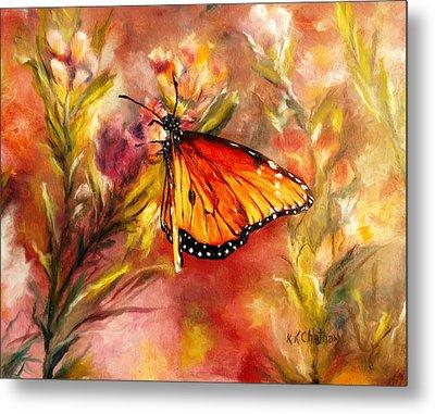 Monarch Beauty Metal Print by Karen Kennedy Chatham