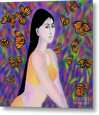 Monarchs Metal Print by Latha Gokuldas Panicker