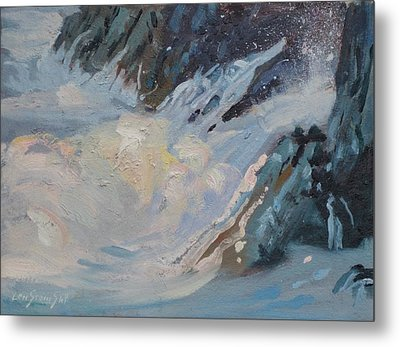 Metal Print featuring the painting Monarola Surf by Len Stomski