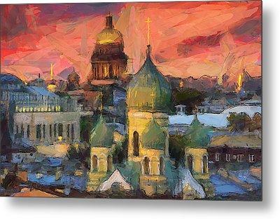 Monastery At Sunset Metal Print by Yury Malkov