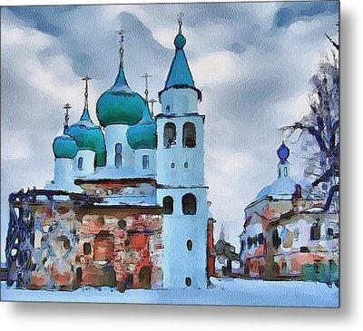 Monastery Construction Metal Print by Yury Malkov