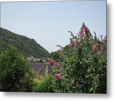 Monastery Lavender And Lilac Metal Print by Pema Hou