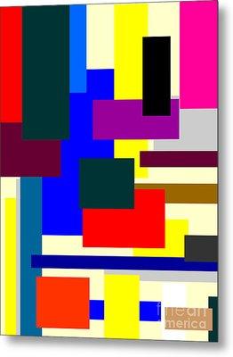 Mondrian Composition Metal Print by Celestial Images