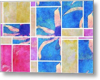 Mondrianity - Daisies 0111 Metal Print
