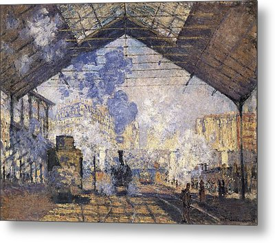 Monet, Claude 1840-1926. The Gare St Metal Print by Everett