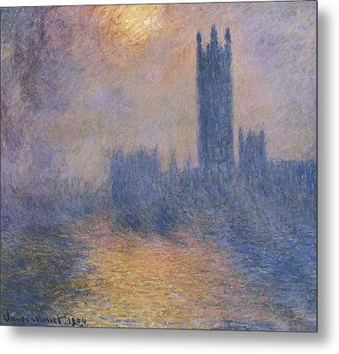 Monet, Claude 1840-1926. The Houses Metal Print by Everett