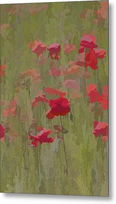 Monet Poppies Metal Print by David Letts