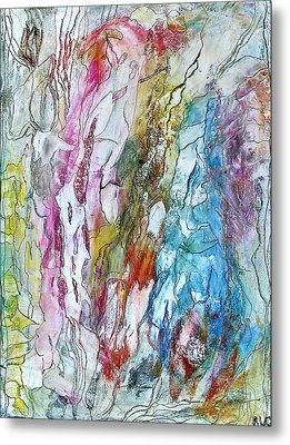 Monet's Garden Metal Print by Bellesouth Studio