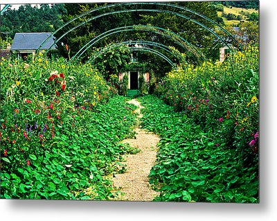 Monet's Gardens At Giverny Metal Print by Jeff Black