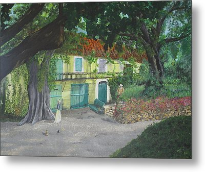 Metal Print featuring the painting Monet's Home by Hilda and Jose Garrancho