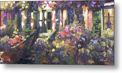 Monet's Home In Giverny Metal Print by Donna Tuten