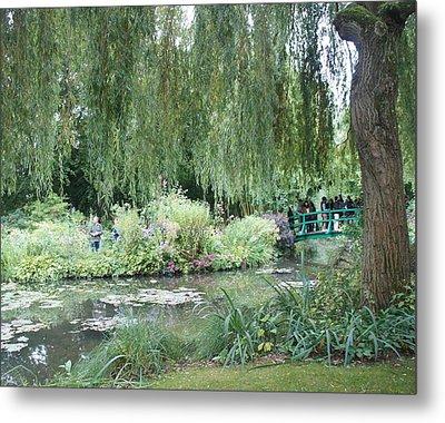 Monet's Japanese Bridge Metal Print by Kristine Bogdanovich