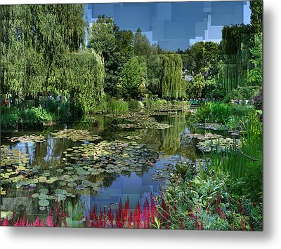 Monet's Lily Pond At Giverny Metal Print