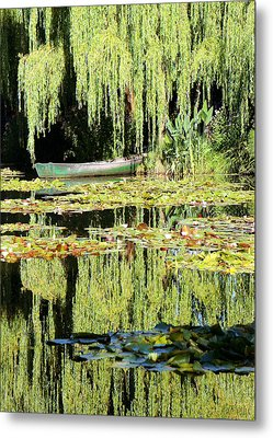 Metal Print featuring the photograph Monet's Pond by Lorella  Schoales
