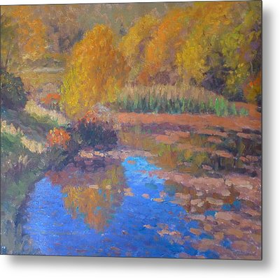 Monets Pond. Whitechapple Metal Print by Terry Perham