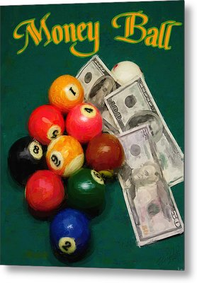 Money Ball Metal Print by Frederick Kenney