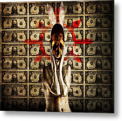 Money Metal Print by Johan Lilja