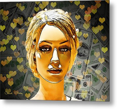 Money Love Metal Print by Chuck Staley
