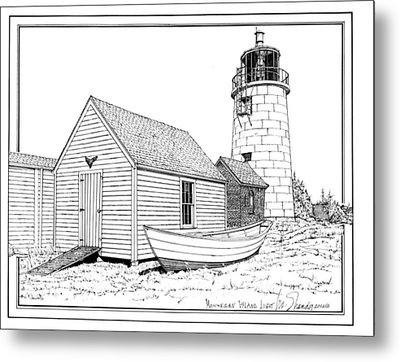 Monhegan Island Light Metal Print