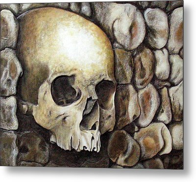 Monk Relic Metal Print by Elaine Booth-Kallweit