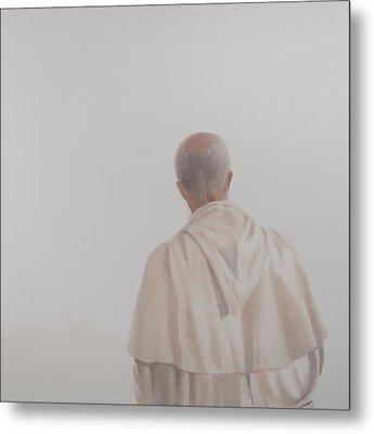 Monk, Santantimo I, 2012 Acrylic On Canvas Metal Print by Lincoln Seligman