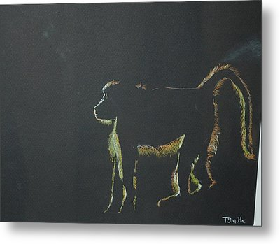 Monkey At Dawn Metal Print