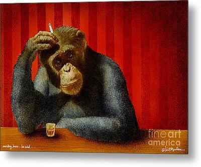 Monkey Bars...he Said... Metal Print by Will Bullas