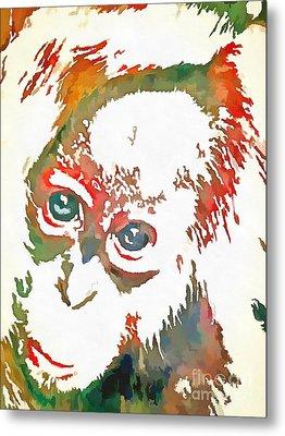 Monkey Pop Art Metal Print