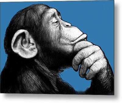 Monkey Pop Art Drawing Sketch Metal Print by Kim Wang