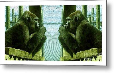 Monkey See Monkey Do Metal Print by Nina Silver