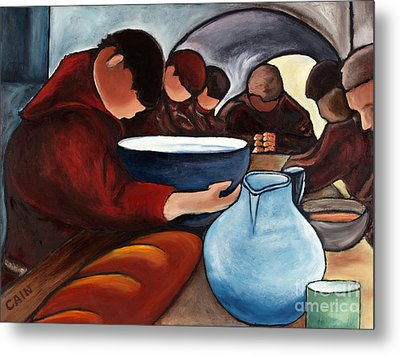 Monks At Prayer Metal Print by William Cain