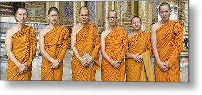 Monks At The Grand Palace Metal Print