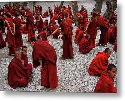 Monks Debating Metal Print