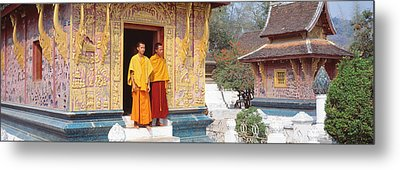 Monks Wat Xien Thong Luang Prabang Laos Metal Print