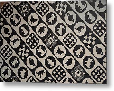 Monochrome Mosaic Metal Print by Sonali Gangane
