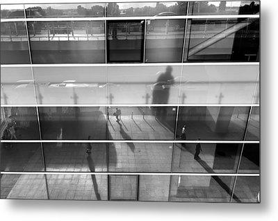 Monochrome Reflection Metal Print by Stelios Kleanthous