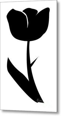 Monochrome Tulip Metal Print by Tina M Wenger