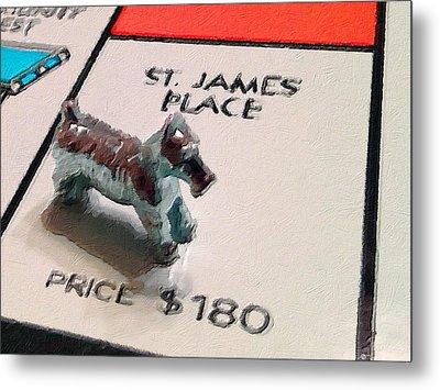 Monopoly Board Custom Painting St James Place Metal Print by Tony Rubino
